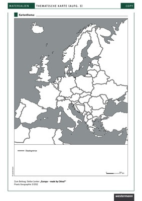 Stumme Karte Afrika.Stumme Karte