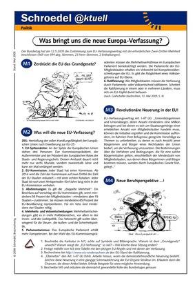 Was bringt uns die neue EU-Verfassung? - - ein Arbeitsblatt zur ...