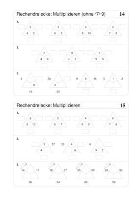 Multiplizieren bis 100 - Rechendreiecke: Verlage der Westermann Gruppe