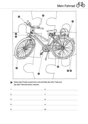 mein fahrrad puzzle zum ausschneiden verlage der westermann gruppe. Black Bedroom Furniture Sets. Home Design Ideas