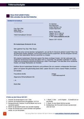 Geschäftsbrief Fehlersuchaufgaben Bildungsverlag Eins