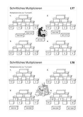 schriftlich multiplizieren bis 1000000 zahlenmauern verlage der westermann gruppe. Black Bedroom Furniture Sets. Home Design Ideas