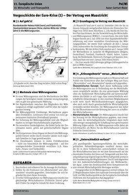 vorgeschichte der euro krise 1 der vertrag von maastricht verlage der westermann gruppe. Black Bedroom Furniture Sets. Home Design Ideas