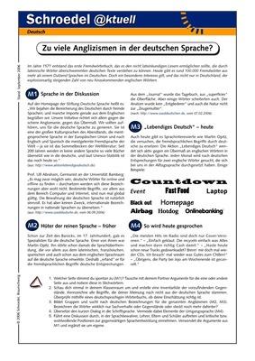 zu viele anglizismen in der deutschen sprache ein arbeitsblatt zur sprachentwicklung ab. Black Bedroom Furniture Sets. Home Design Ideas