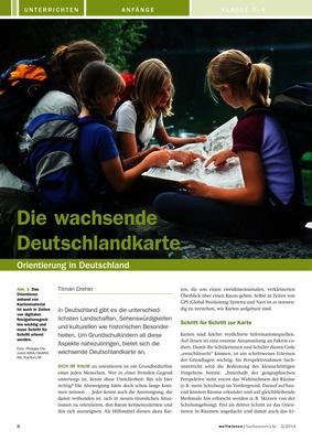 die wachsende deutschlandkarte orientierung in deutschland verlage der westermann gruppe. Black Bedroom Furniture Sets. Home Design Ideas