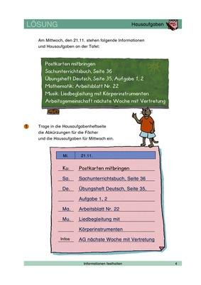 Hausaufgaben - Abkürzungen benutzen - Lösungen: Lernando ...