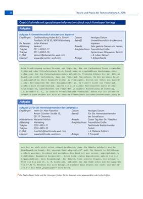 Geschäftsbriefe Mit Informationsblock Nach Formloser Vorlage