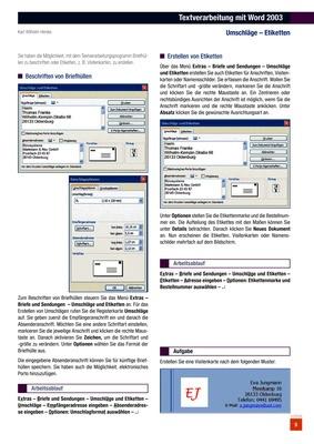 Textverarbeitung Mit Word 2003