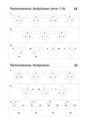 multiplizieren bis 100 rechendreiecke verlage der westermann gruppe. Black Bedroom Furniture Sets. Home Design Ideas