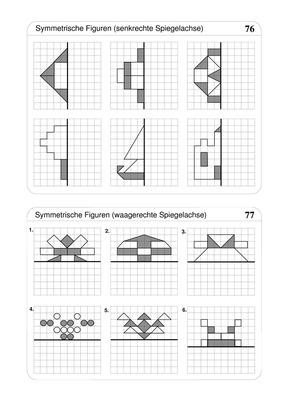 symmetrische figuren spiegeln verlage der westermann gruppe. Black Bedroom Furniture Sets. Home Design Ideas