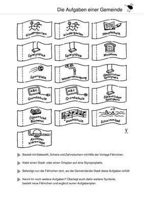 die aufgaben einer gemeinde ausschneidebogen das grundschulprogramm der westermann gruppe. Black Bedroom Furniture Sets. Home Design Ideas