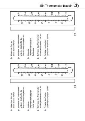 temperatur ein thermometer basteln verlage der