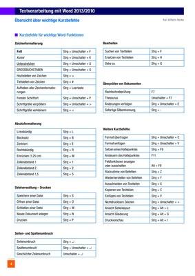 Textverarbeitung mit Word 2013/2010 - Übersicht über