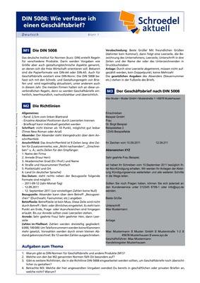 Din 5008 Wie Verfasse Ich Einen Geschäftsbrief Deutsch Ab