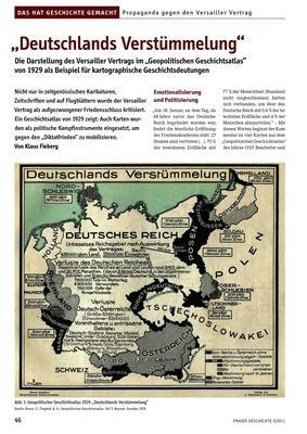 Deutschlands Verstümmelung Die Darstellung Des Versailler
