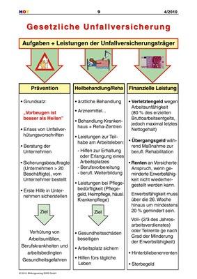 Gesetzliche Unfallversicherung - Aufgaben + Leistungen der ...