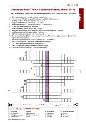 Regelwerk Kreuzworträtsel