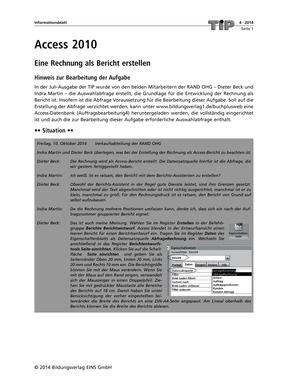 Access 2010 Eine Rechnung Als Bericht Erstellen Bildungsverlag Eins