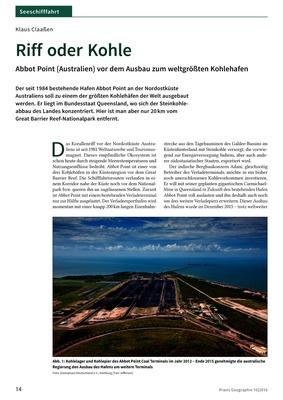 Riff oder Kohle - Abbot Point (Australien) vor dem Ausbau zum ...