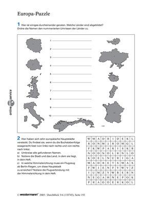 7 3 europa puzzle deutschland und europa verlage der westermann gruppe. Black Bedroom Furniture Sets. Home Design Ideas