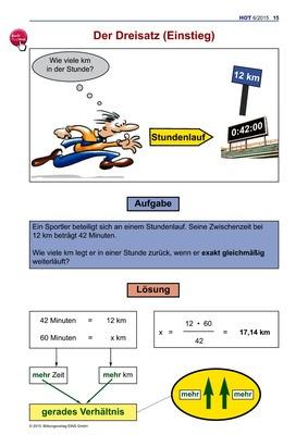 Der Dreisatz (Einstieg) - Arbeitsblatt: Bildungsverlag EINS