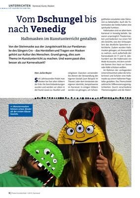 Vom Dschungel Bis Nach Venedig Halbmasken Im Kunstunterricht