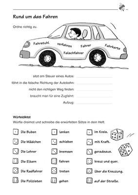 Rund um das Fahren - Wortfamilie FAHREN, Würfeldiktat: Verlage der ...