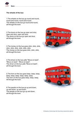 transport london bus song the wheels of the bus verlage der westermann gruppe. Black Bedroom Furniture Sets. Home Design Ideas