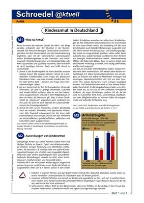 Kinderarmut in Deutschland - - ein Arbeitsblatt zu Erscheinungen und ...