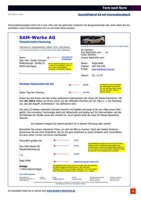 Form Nach Norm Geschäftsbrief A4 Mit Informationsblock Verlage Der
