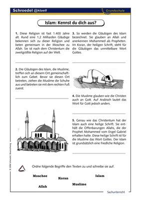 Islam: Kennst du dich aus? - - ein Arbeitsblatt über den Islam (ab ...