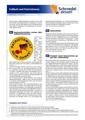 Fußball und Patriotismus - - Deutsch / Politik ab Klasse 9: Verlage ...
