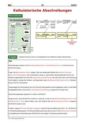 Kalkulatorische Abschreibungen: Bildungsverlag EINS