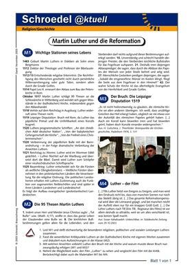 Martin Luther Und Die Reformation Ein Arbeitsblatt Zur Vorbereitung Und Ergänzung Des Films Luther