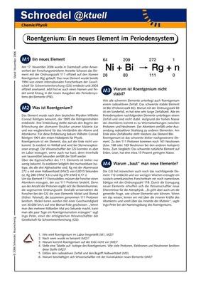Roentgenium – Ein neues Element im Periodensystem - - ein ...