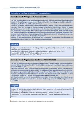 Formulieren Von Geschäftsbriefen Lernsituationen Aufgabenblatt