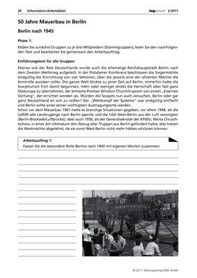 50 jahre mauerbau in berlin information arbeitsblatt verlage der westermann gruppe. Black Bedroom Furniture Sets. Home Design Ideas