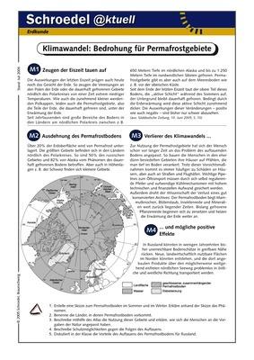 klimawandel bedrohung f r permafrostgebiete ein arbeitsblatt ber die steigende bedrohung. Black Bedroom Furniture Sets. Home Design Ideas