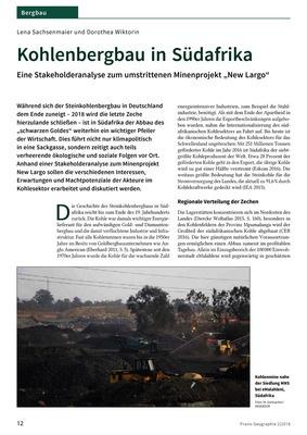 Kohlenbergbau in Südafrika - Eine Stakeholderanalyse zum ...