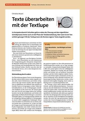 Texte überarbeiten Mit Der Textlupe Verlage Der Westermann Gruppe