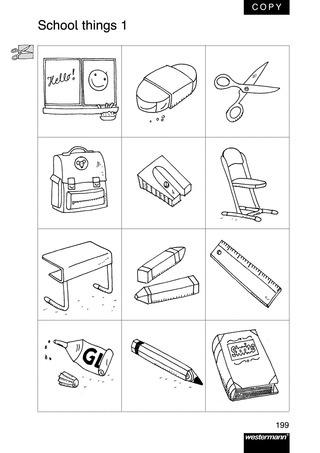 school things at school wort und bildkarten verlage der westermann gruppe. Black Bedroom Furniture Sets. Home Design Ideas