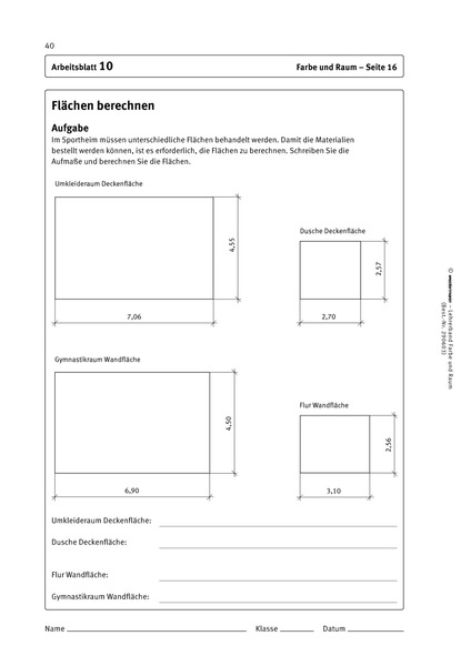 Vorbereiten auf Ausbildung und Beruf - Farbe + Raum - Lehrermaterial ...