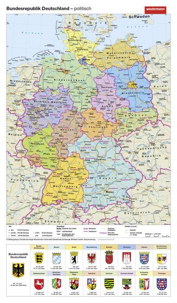 handkarten geographie im 10er set bundesrepublik deutschland physisch politisch westermann. Black Bedroom Furniture Sets. Home Design Ideas