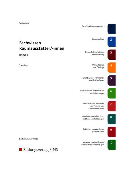 Fachwissen f r raumausstatter innen sch lerband 1 for Raumausstatter schweiz