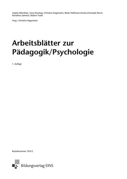 Pädagogik/Psychologie - für die sozialpädagogische Erstausbildung ...