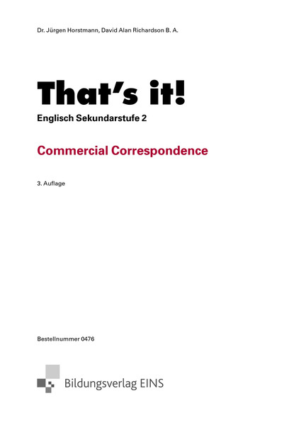 Handelskorrespondenz Musterbriefe : That s it commercial correspondence westermann gruppe
