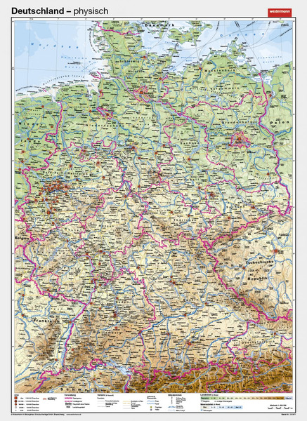 Physische Karte Deutschland Arbeitsblatt | My blog
