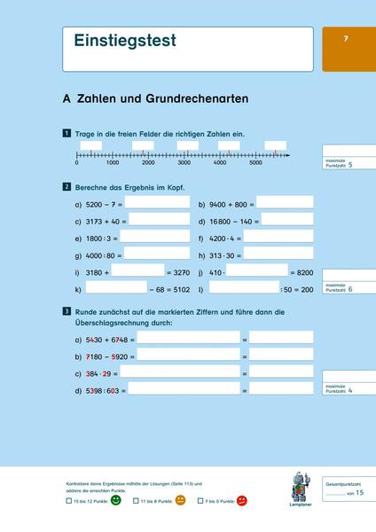 Fit fürs Gymnasium - Übergang 4 / 5 Mathematik: Das ...