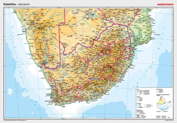 Posterkarten Geographie - Südafrika: physisch: Diercke Webshop