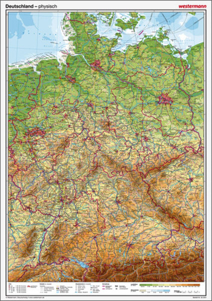 posterkarten geographie posterkartenset deutschland